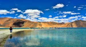 PANGONG TSO LAKE, IN THE HIMALAYAS, INDIA